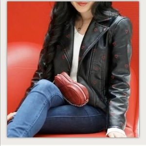 NWT Candie's Faux Leather Jacket Hearts ♥️